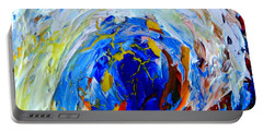 Portable Battery Charger featuring the painting Surge 1 by Fred Wilson