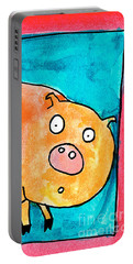 Surprised Pig Portable Battery Charger