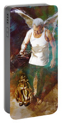 Portable Battery Charger featuring the painting Surreal Art  by Gull G