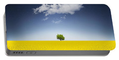 Surreal Canola Field Portable Battery Charger by Bess Hamiti