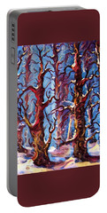 Surreal Forest Portable Battery Charger by Megan Walsh