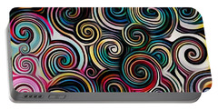 Surreal Swirl  Portable Battery Charger