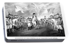 Surrender Of Lord Cornwallis At Yorktown Portable Battery Charger by War Is Hell Store