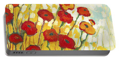 Yellow-orange Paintings Portable Battery Chargers