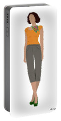 Portable Battery Charger featuring the digital art Susan by Nancy Levan
