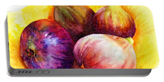 Portable Battery Charger featuring the painting Susan's Figs by Bonnie Rinier