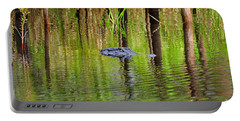 Portable Battery Charger featuring the photograph Swamp Stalker by Al Powell Photography USA
