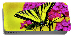 Swallow Tail Feeding Portable Battery Charger by James Steele
