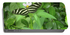 Swallowtail Butterfly On Leaf Portable Battery Charger