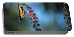 Portable Battery Charger featuring the photograph Swallowtail Lookout by Judy Wolinsky