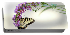 Swallowtail On Purple Flower Portable Battery Charger