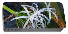 Swamp Lilies Portable Battery Charger by Kenneth Albin
