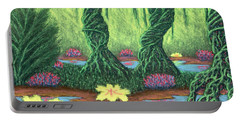 Swamp Things 02, Diptych Panel A Portable Battery Charger