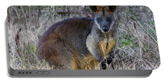Portable Battery Charger featuring the photograph Swamp Wallaby  by Miroslava Jurcik