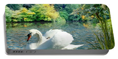 Swan And Cygnets Portable Battery Charger