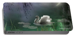 Swan By Moonlight Portable Battery Charger