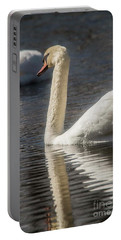 Portable Battery Charger featuring the photograph Swan by David Bearden