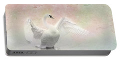 Swan Dream - Display Spring Pastel Colors Portable Battery Charger