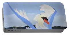 Portable Battery Charger featuring the painting Swan by Donald J Ryker III