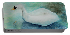 Swan Flight Portable Battery Charger by Tamyra Crossley
