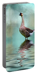 Swan Goose Portable Battery Charger by Cyndy Doty