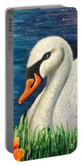 Swan In Pond Portable Battery Charger