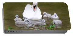 Swan Lake 1 Portable Battery Charger by Bill Holkham