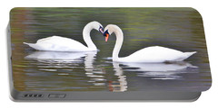 Swan Love Portable Battery Charger