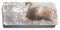 Swan Of The Glittery Early Evening Portable Battery Charger