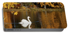 Swan On A Lake Portable Battery Charger