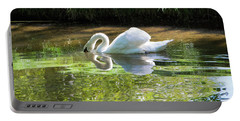 Swan Reflections, Rural England Portable Battery Charger