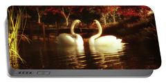Swans In A Pond Portable Battery Charger