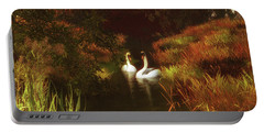 Swans In The Forest Portable Battery Charger