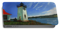 Swans Island Lighthouse Portable Battery Charger