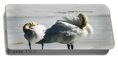 Swans On Ice Portable Battery Charger