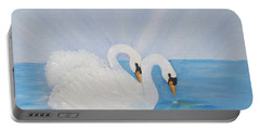 Swans On Open Water Portable Battery Charger