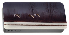 Swans Over The Marsh Portable Battery Charger