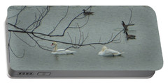 Swans With Geese Portable Battery Charger