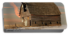 Swayback Barn Portable Battery Charger by Kathy M Krause