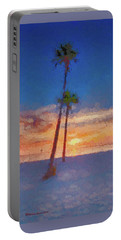 Portable Battery Charger featuring the photograph Swaying Palms by Marvin Spates