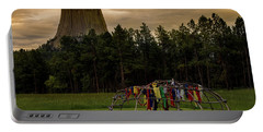 Portable Battery Charger featuring the photograph Sweat Lodge At Devil's Tower by Gary Lengyel
