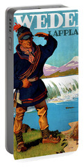 Sweden, Lapland, Travel Poster Portable Battery Charger