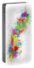 Sweden Paint Splashes Map Portable Battery Charger