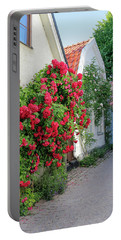 Swedish Town Visby, Famous For Its Roses Portable Battery Charger