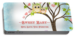 Sweet Baby - Owl Love You Forever Nursery Portable Battery Charger by Audrey Jeanne Roberts