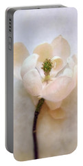 Sweet Bay Magnolia Bloom Portable Battery Charger by Louise Kumpf