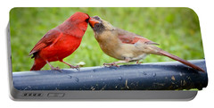 Sweet Cardinal Couple Portable Battery Charger