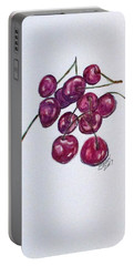 Portable Battery Charger featuring the painting Sweet Cherry by Clyde J Kell