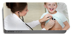 Sweet Child Visiting Doctor Portable Battery Charger