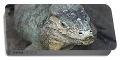Portable Battery Charger featuring the photograph Sweet Face Of Rhinoceros Iguana by Miroslava Jurcik